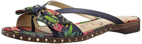 Dress Sandals Bouquets Womens (Sam Edelman Women's Dariel Sandal, Navy Multi Bouquet Print, 7 Medium US)