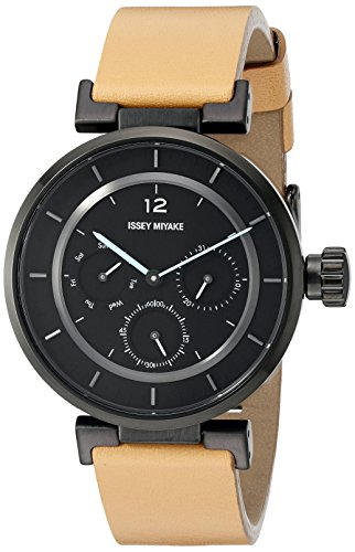 ISSEY MIYAKE Women's SILAAB04 W mini Analog Display Quartz Brown Watch