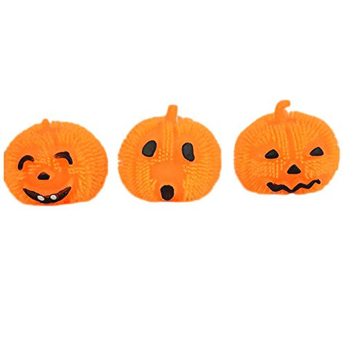 Dahlonega Funny Pumpkin Ball Lamp Flash Toys For Halloween Holiday Party Decoration Random style