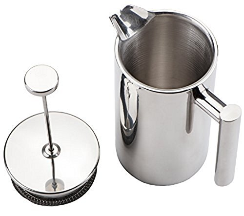 Kabalo Stainless Steel Double Wall Cafetiere Filter//Plunger Coffee /& Tea Maker 1000ml 8 Cups