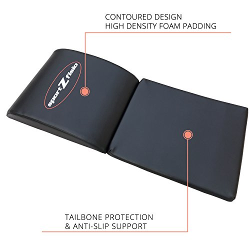 Ab Mat Abdominal Workout Cruncher Pad | Floor Exercise Equipment For Crunches Sit Ups Leg Lifts Pilates Conditioning | Crossfit Core Trainer Tailbone Protection Padding (Support Ab Mat)