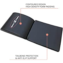 Ab Mat Abdominal Workout Cruncher Pad | Floor Exercise Equipment For Crunches Sit Ups Leg Lifts Pilates Conditioning | Crossfit Core Trainer Tailbone Protection Padding
