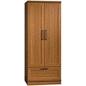 Bon Sauder Homeplus Wardrobe/Storage Cabinet, Sienna Oak Finish