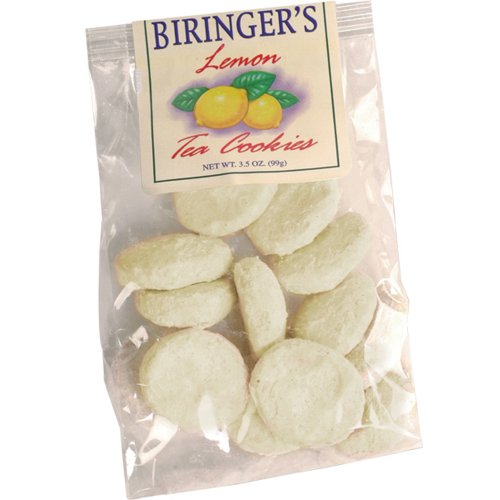 Gourmet Tea Cookies - Lemon Flavor - by Biringer's Farm Fresh, 3.5oz Bag (Pack of 6)