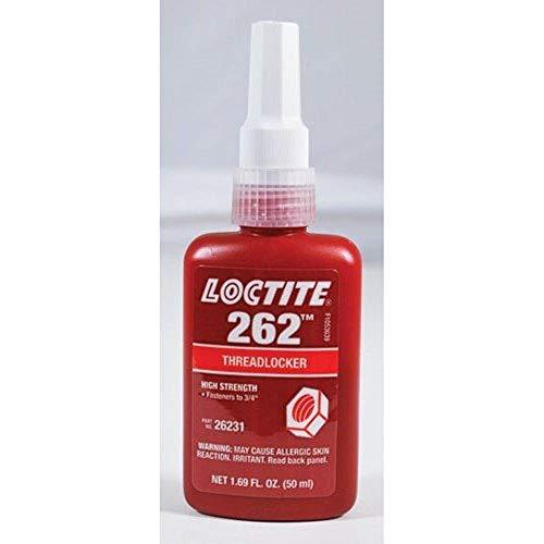 LOCTITE 26231 RED 262 Permanent THREADLOCKER HIGH Strengh 50-ML 1.69OZ Bottle