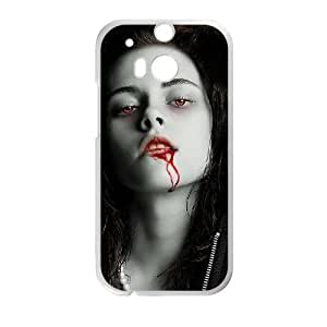 HTC One M8 Cell Phone Case White Twilight D2291183