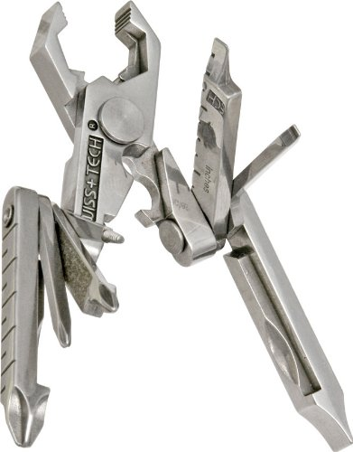 Swiss+Tech ST53100 Polished SS 19-in-1 Micro Pocket Multitool for Camping, Outdoors, Hardware