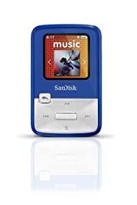 SanDisk Sansa Clip Zip 4GB MP3 Player, Blue With Full-Color Display, MicroSDHC Card Slot and Stopwatch- SDMX22-004G-A57B (Discontinued by Manufacturer)