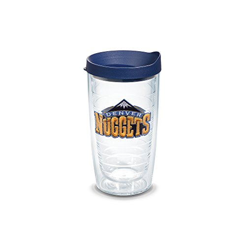 Tervis 1051601 NBA Denver Nuggets Primary Logo Tumbler with Emblem and Navy Lid 16oz, Clear by Tervis