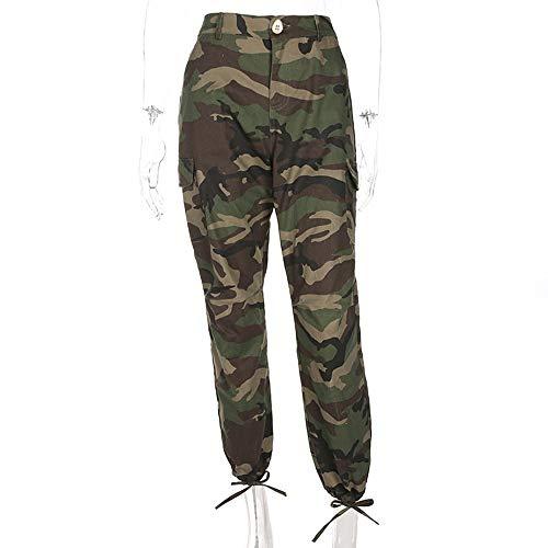 Camuflaje Harem Verde El Algodón Basculador Ojjfj Militar Mujer Pantalones Hasta Pantalón Yoga Tobillo De IfqqpZH