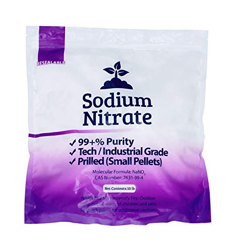 25 lb of Sodium Nitrate (Packaged in 3 Bags) Fertilizer 99+% Pure Chile Saltpeter Gold Metal Refining Industrial Grade Glass Pottery Enamels