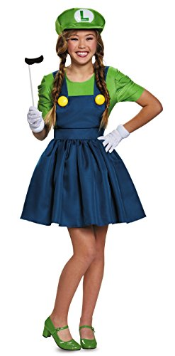 Disguise Women's Luigi Skirt Version Adult Costume, Green/Blue, Large