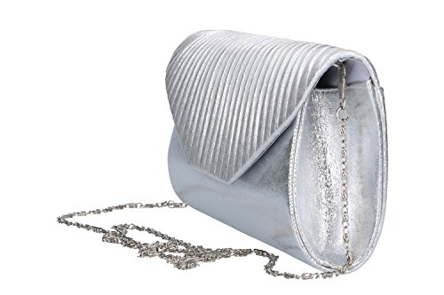 Bolsa mujer LUCA BORSE pochette plata de ceremonia