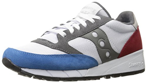 Originali Saucony Mens Jazz 91 Sneakers Fashion Bianche / Blu / Rosse