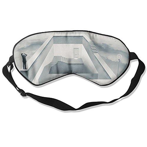 WUGOU Sleep Eye Mask Illusion Maze Lightweight Soft Blindfold Adjustable Head Strap Eyeshade Travel Eyepatch