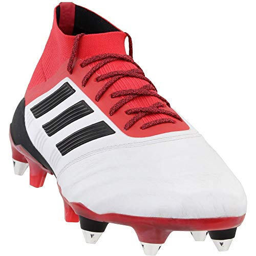 adidas Mens Predator 18.1 Soft Ground Leather Soccer Casual Cleats, White, 6.5
