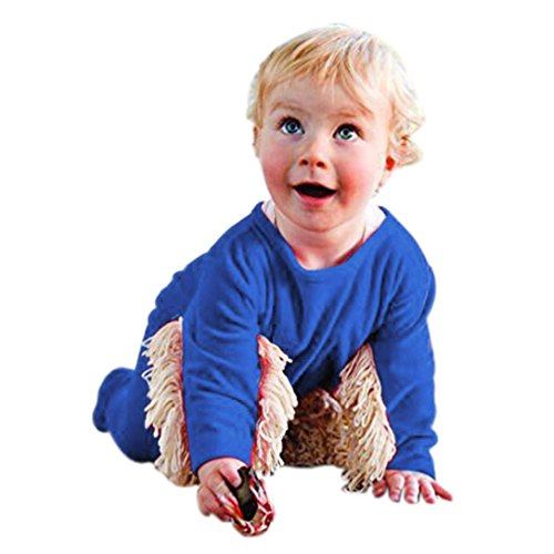 Matoen-Baby-Boys-Girls-Mop-Long-Sleeve-Swob-Romper-Clothes-Outfit