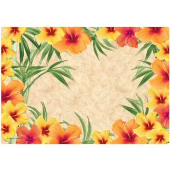 Hibiscus Placemats #2 Paper Placemats 50 Per -