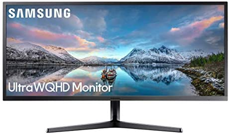 "Samsung 34"" Class Ultrawide Monitor with 21:9 Wide Screen, S34J552WQNXZA (Renewed)"