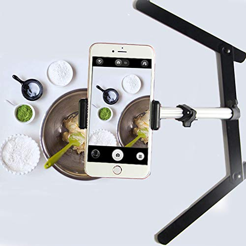 Evanto Camera Table Top Monopod Stand Tripod Support Rig with Overhead Phone Mount for YouTube Tutorials, Cake and Cookies Decorating