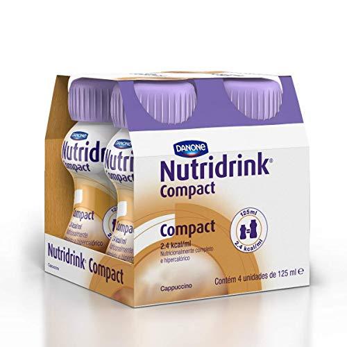 Nutridrink Compact Capuccino Danone Nutricia com 4 unidades de 125ml