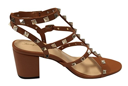 512e324ce06 Kaitlyn Pan Studded Block Heel Open Toe Sandal - Buy Online in UAE ...