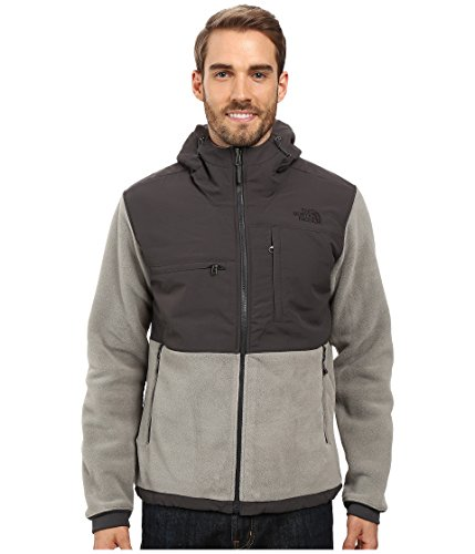 The North Face Men's Denali 2 Hoodie Recycled Moon Mist Grey/Asphalt Grey (Prior Season) X-Large