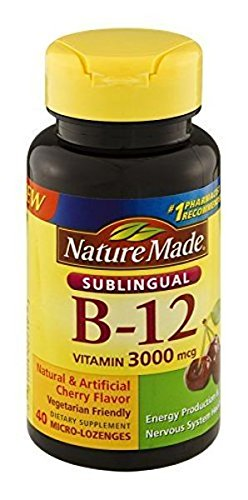 3 Pack -Nature Made Vitamin B-12 3000mcg – 40 Lozenges by Nature Made