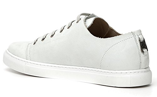 CAFèNOIR Sneaker CAF Noir PH722 SCRPE Mann in Weißem Nubuk Geschnürt Bianco