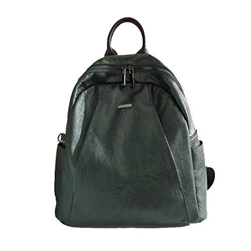 Viaje Capacidad Tamaño Versión Estilo color Gran De Mujer Suave Verde Bolsa Eeayyygch Verde Coreana Casual Cuero La Universidad Un Bolso Trend Mochila Tamaño vaqIx6wH