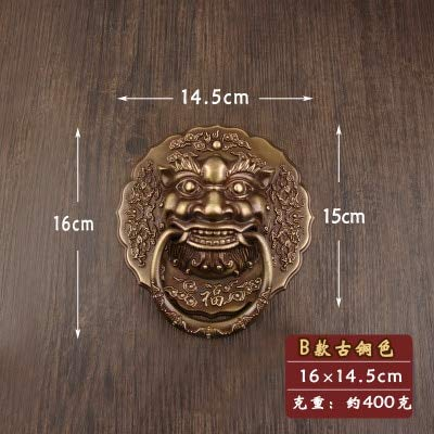 (2 pcs vintage style unfold install wooden door knocker handles sofa wood chair drop rings pulls Antique Lion Doorknocker - (Color: 7))