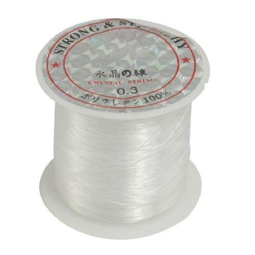 TOOGOO(R) Jewelry Beading Thread 0.3mm Dia. Clear Nylon Fishing Line Spool 17 Lbs For Sale