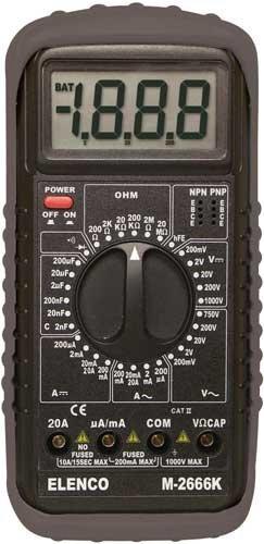 Deluxe Multimeter Kit (Elenco  Deluxe Full Function Digital Multimeter Kit [ M-2666K)