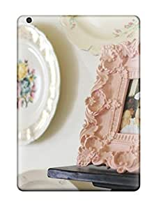 Cynthaskey Perfect Tpu Case For Ipad Air/ Anti-scratch Protector Case (vintage Plates And Carved Pink Frame)