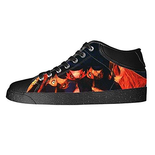 Dalliy Fox Mens Canvas shoes Schuhe Lace-up High-top Sneakers Segeltuchschuhe Leinwand-Schuh-Turnschuhe E