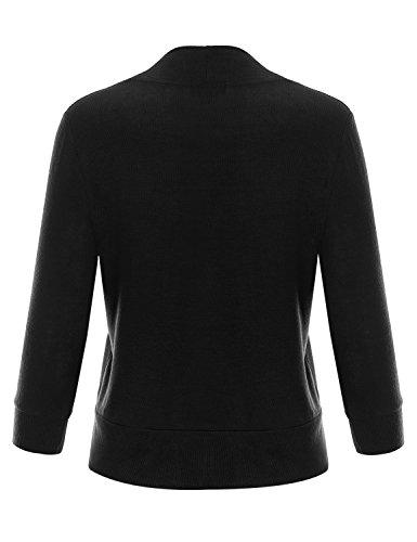 7ec61441a1 Jual BIADANI Women Classic 3 4 Sleeve Crop Cardigan - Cardigans ...