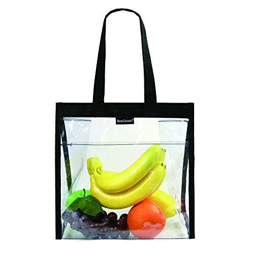 Clear Lunch Tote Bag for Work for Women Men NCAA NFL & PGA Stadium Security Approved Transparent