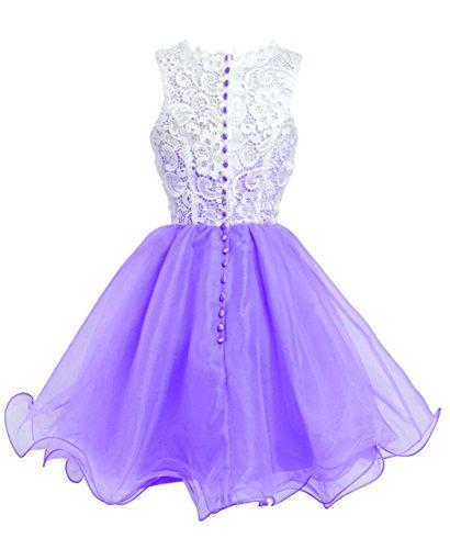 Fashion Plaza Robe de princesse Bal des finissants Robe de Bal D0250 (EU38, lavande)