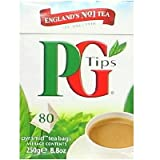 PG Tips Black Tea Pyramids Tea Bags 80 each(Pack of 6)