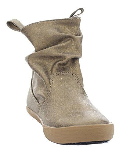 A-Line 6-A0884 Womens Bronze Metallic Fog Slouchy Ankle Boot 38 EU / 7 US Womens X5QDfT