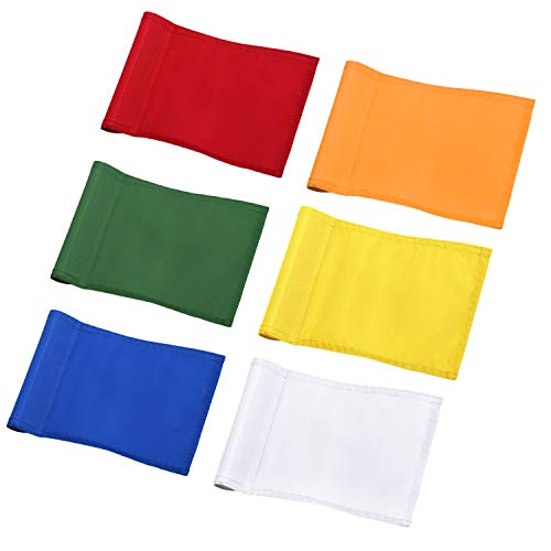 (KINGTOP Solid Golf Flag with Plastic Insert, Putting Green Flags for Yard, Indoor/Outdoor, Garden Pin Flags, 420D Premium Nylon Flag, 8