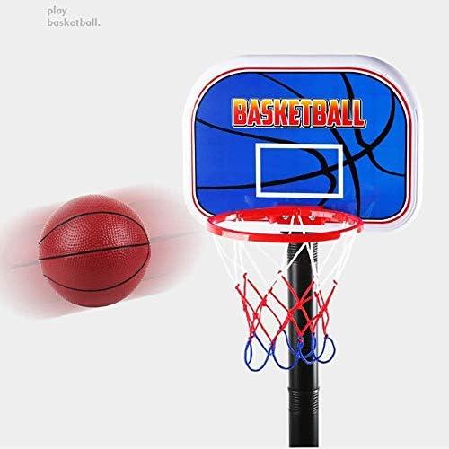 キッズバスケットボールスタンドバスケットボールフープセットスタンドキッズスポーツアクティビティセンター調整可能な高さ幼児向けキッズギフト男の子&女の子(カラー:ブルー、サイズ:20.5x30.5X115cm)