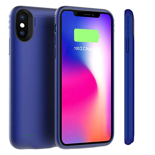 iPhone Xs Max Battery Case, BasicStock 5200mAh Portable Rechargeable Extended Backup Battery Charging Juice External Power Bank Protective Cover Compatible with iPhone Xs Max 6.5
