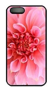 iPhone 5S Case - Customized Unique Design Pink Dahlia New Fashion PC Black Hard by icecream design