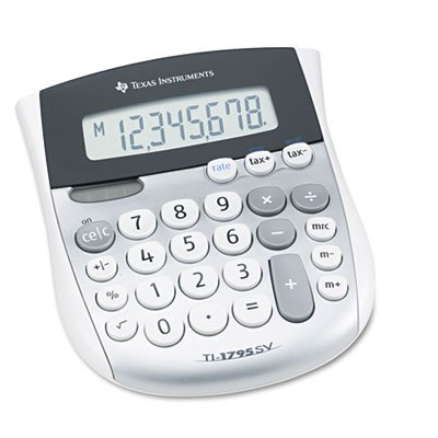 TI-1795SV Minidesk Calculator, 8-Digit LCD, Sold as 2 Each by Texas Instruments