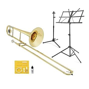 41Uw2bCn45L._SY355_ student tenor trombone in bb beginner pack by gear4music amazon