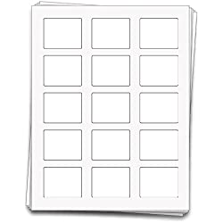 150 Rectangle Vinyl Labels for 10 ml Roll-on Bottles and Lip Balm Tubes, 2.2 x 1.7 inches, Weatherproof and Waterproof White