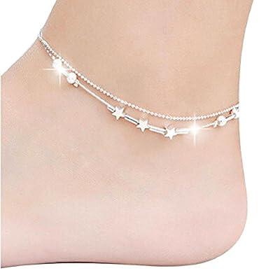 Susenstone Little Star Women Chain Ankle Bracelet Barefoot Sandal Beach Foot Jewelry