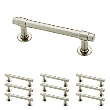 "Franklin Brass P29520K-SN-B Straight Bar Pull, 3"" (76mm), Brushed Nickel, 10 Piece"