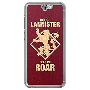 Loud Universe HTC One A9 House Lannister Hear Me Roar Printed Transparent Edge Case - Maroon